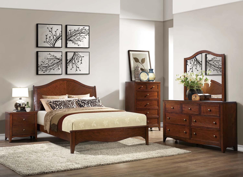 Homelegance Verity Low-Profile Bedroom - Cherry