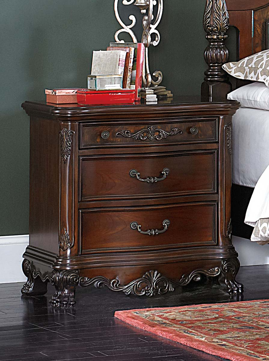 Homelegance Deryn Park Night Stand - Cherry