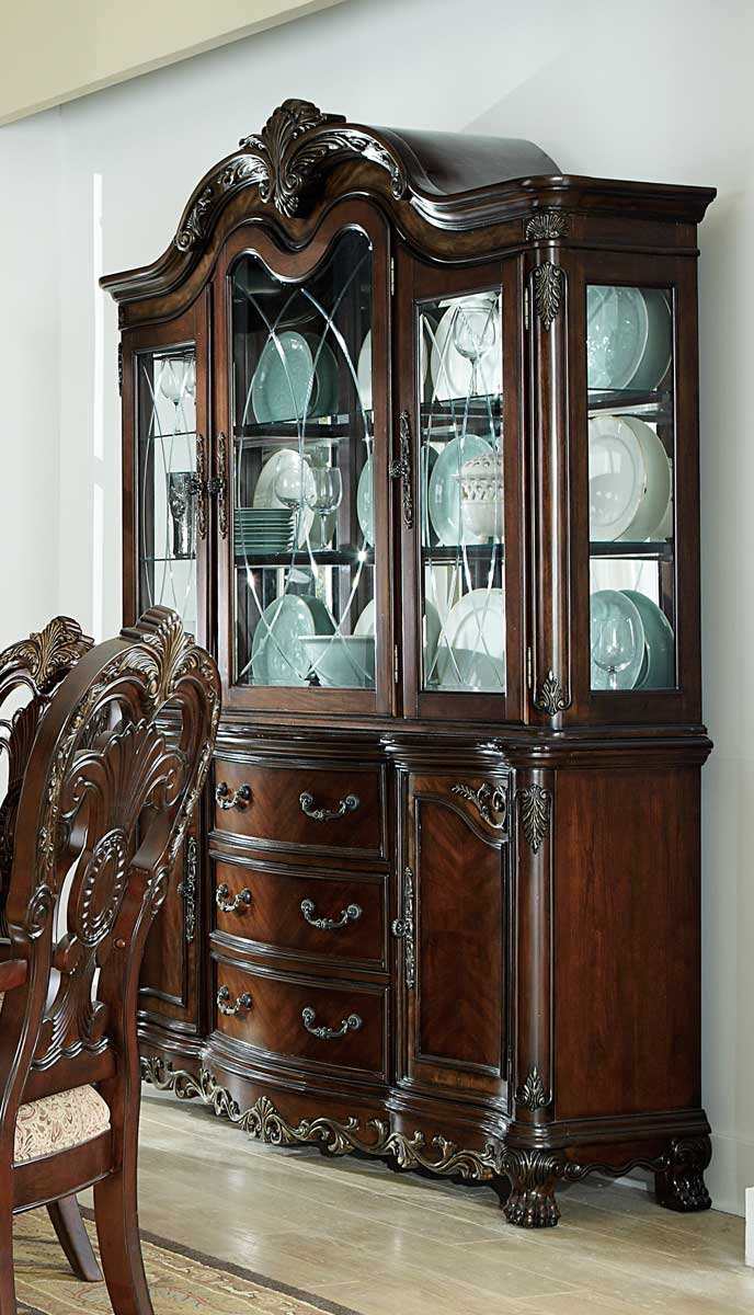 Homelegance Deryn Park China Cabinet - Cherry