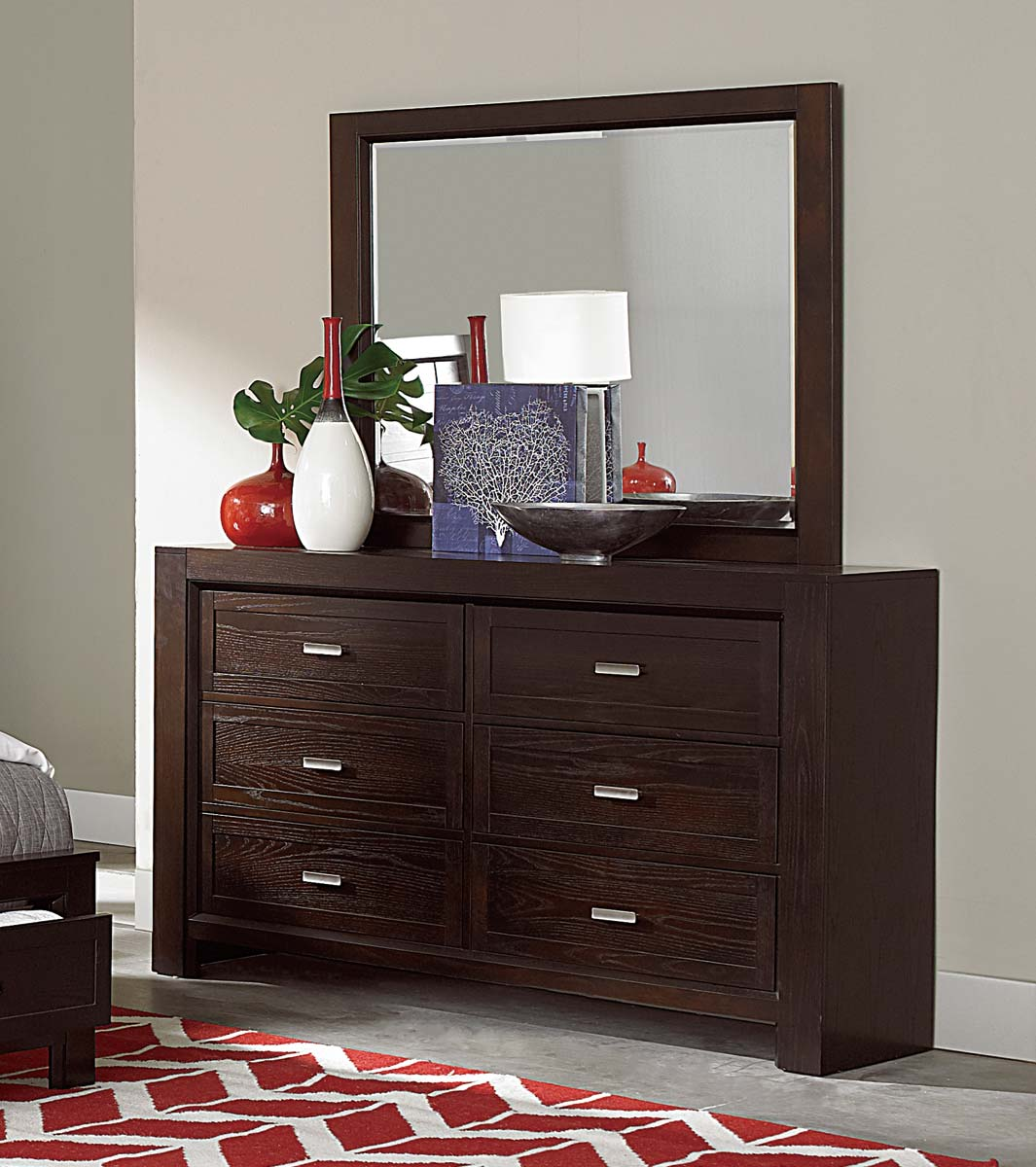 Homelegance Breese Dresser - Dark Cherry