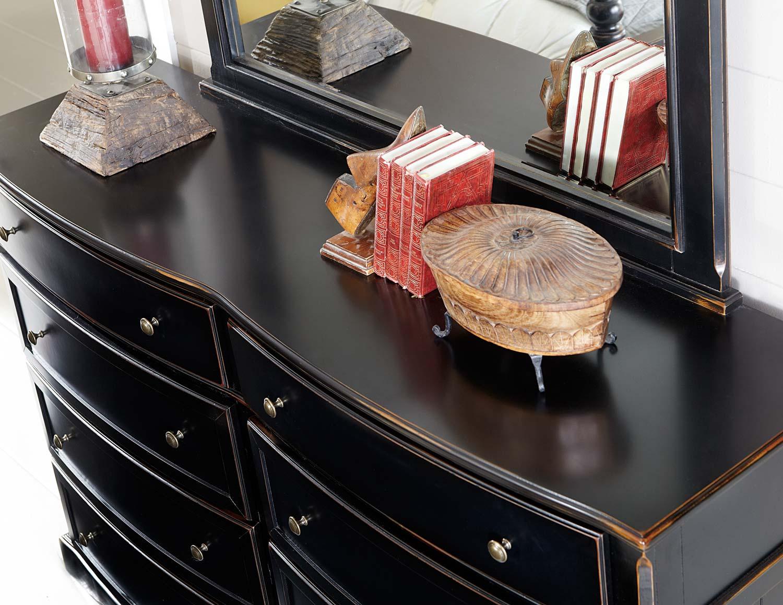 Homelegance Carollen Bedroom Set - Black Sand-through