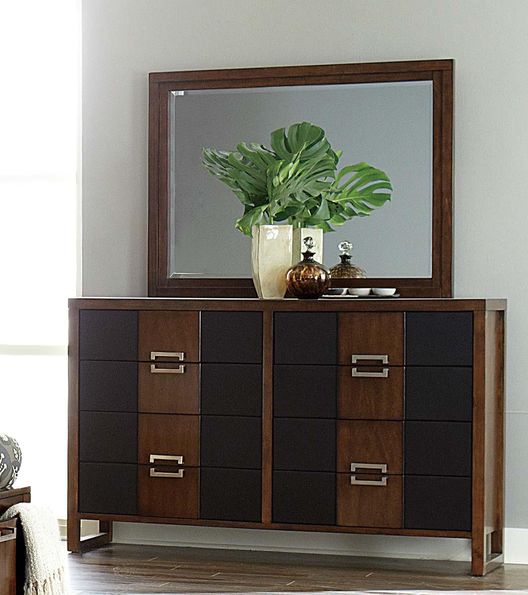 Homelegance Zeigler Dresser - Brown Cherry