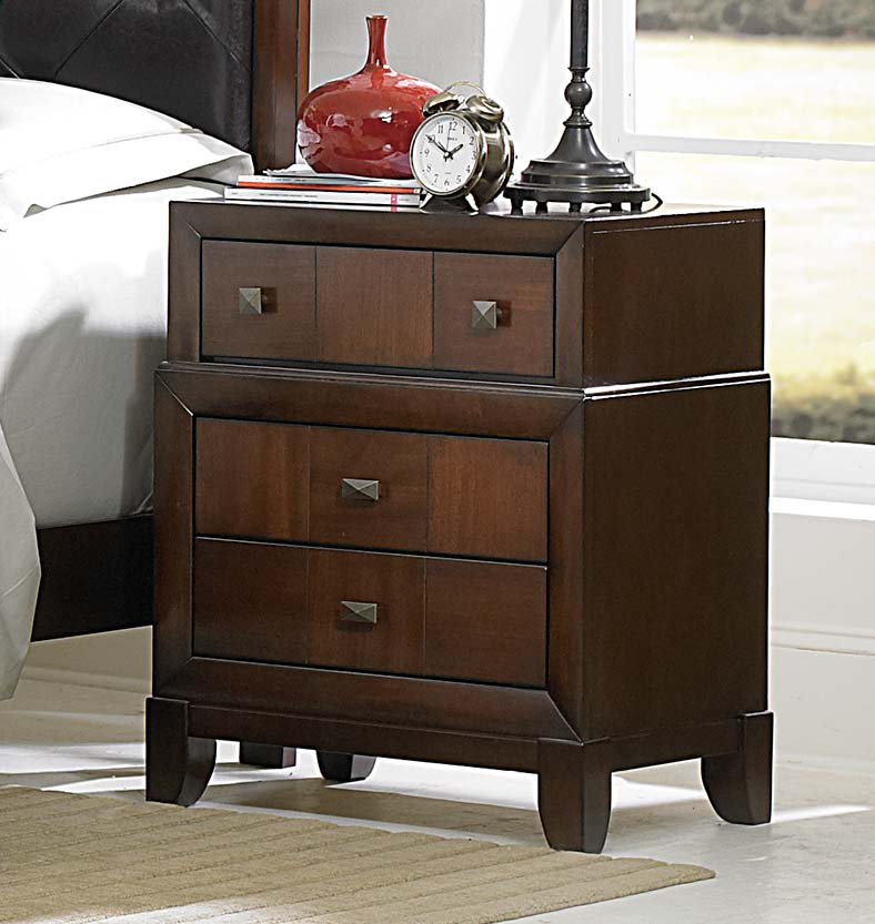 Homelegance Carrie Ann Night Stand - Parquet Cherry