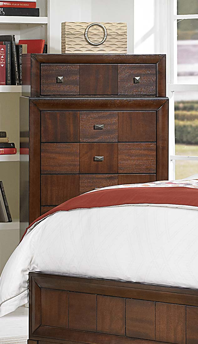 Homelegance Carrie Ann Chest - Parquet Cherry