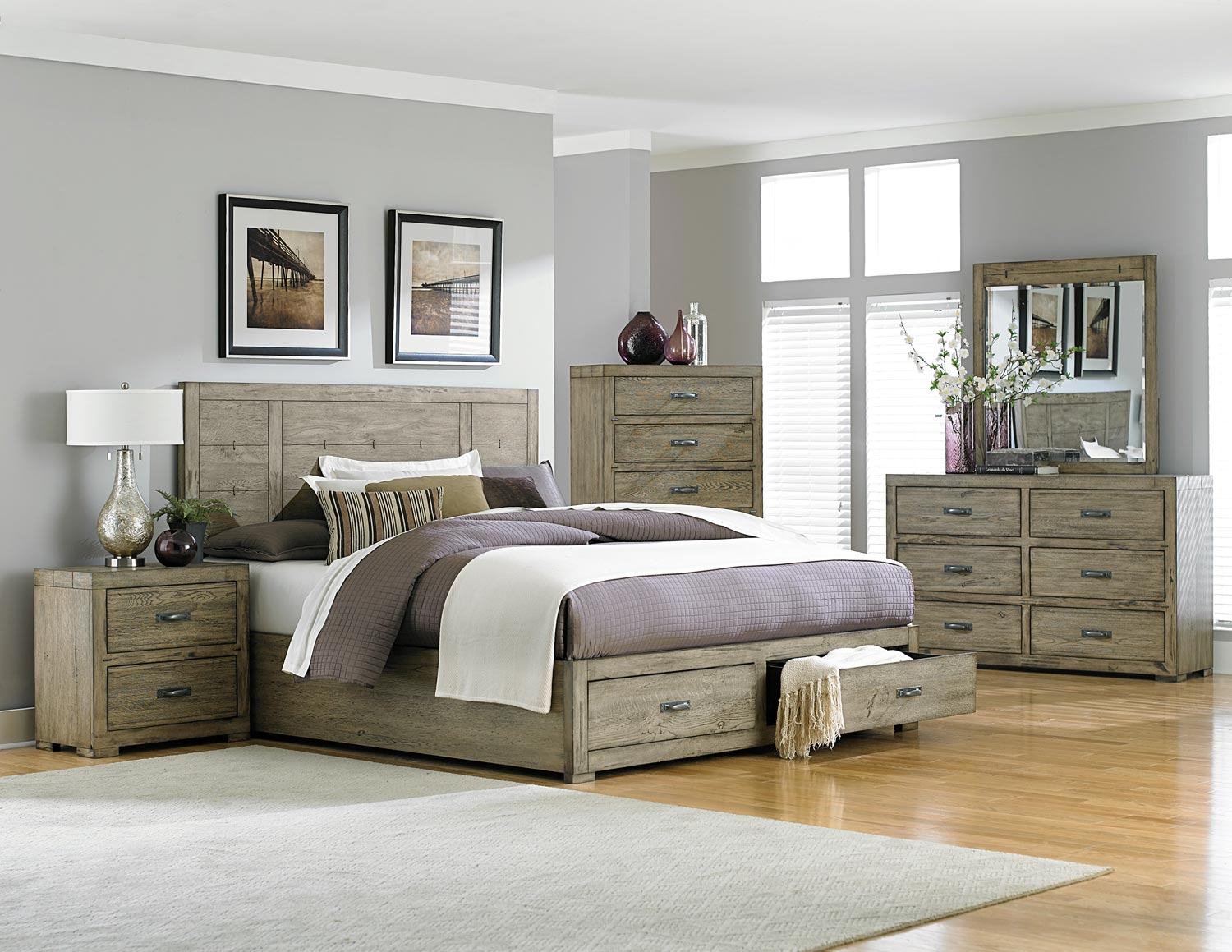 platform storage bedroom set driftwood b2297 1 at