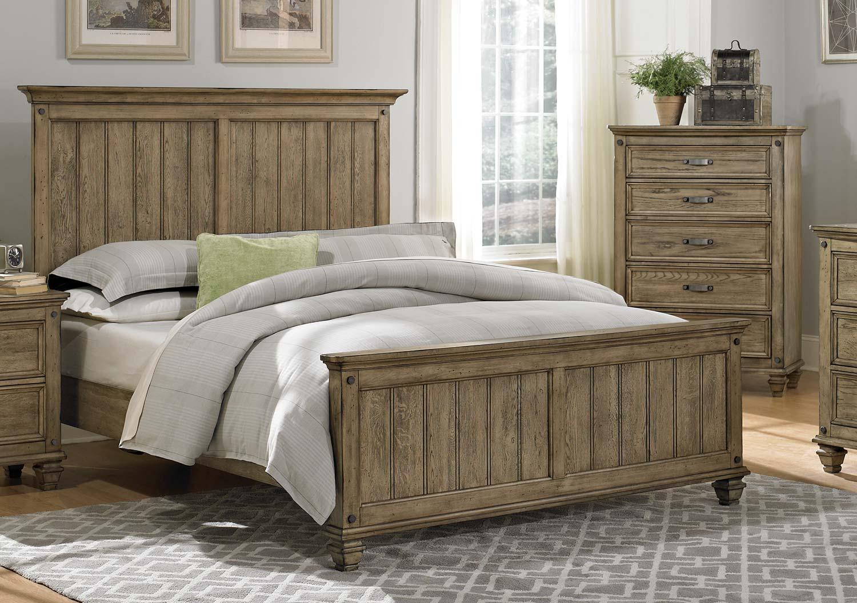 Homelegance Sylvania Bed - Driftwood Oak