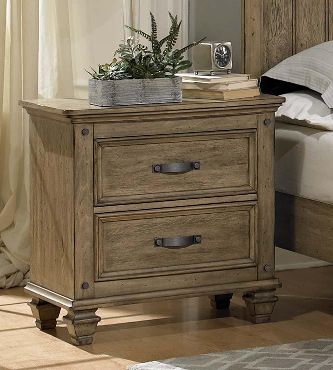 homelegance sylvania bedroom set driftwood oak 2298 bed