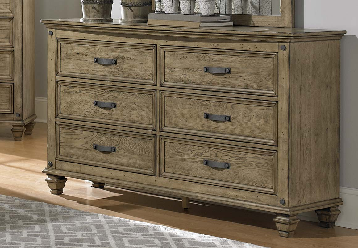 sylvania bedroom set driftwood oak 2298 bed set