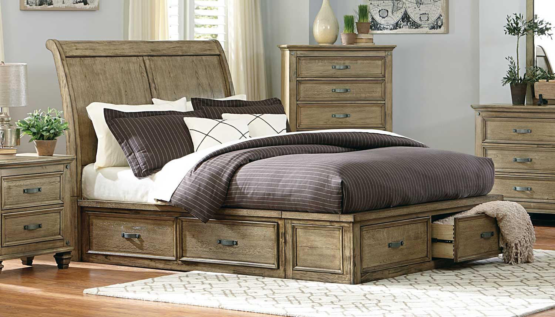 Homelegance Sylvania Platform Bed - Driftwood