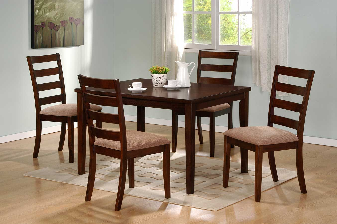 Homelegance Hale Dining Set A - Walnut