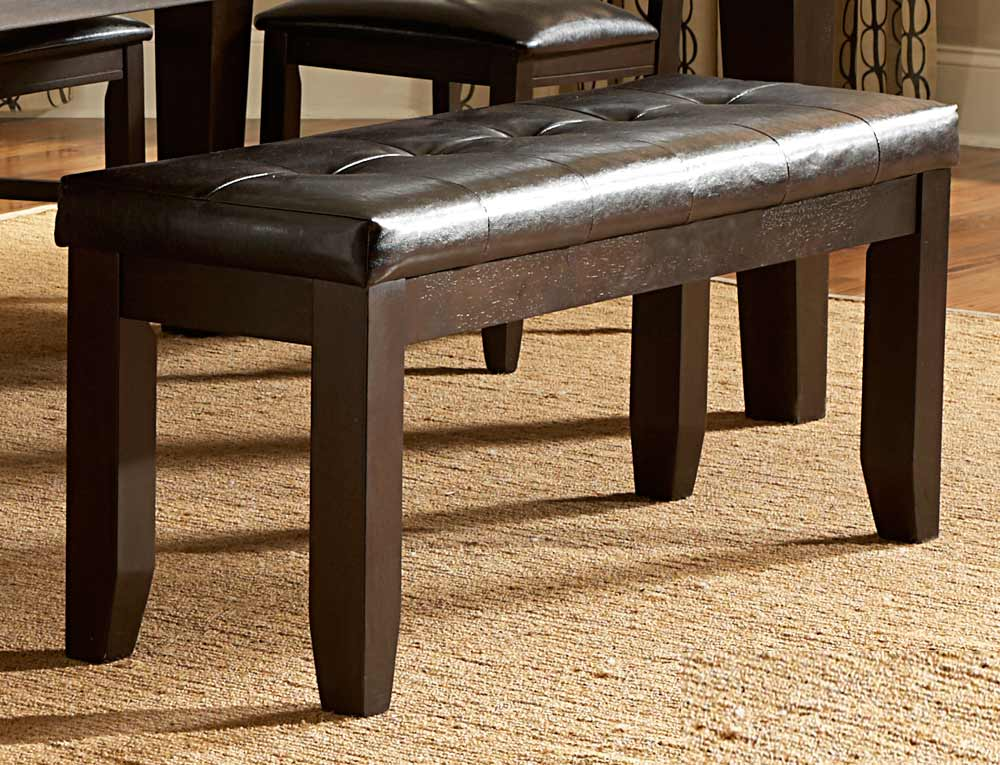 Hawn Bench - 48in - Dark Brown Leatherette - Homelegance