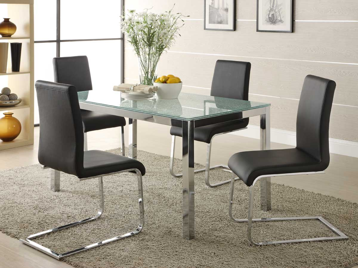 Homelegance Knox Glass Dining Set