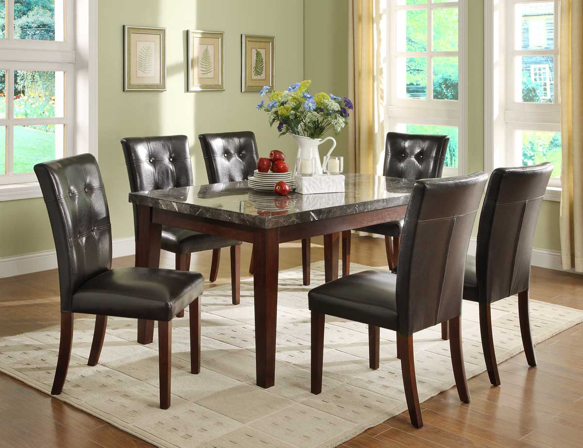 Homelegance Decatur Dining Set- Rich Cherry