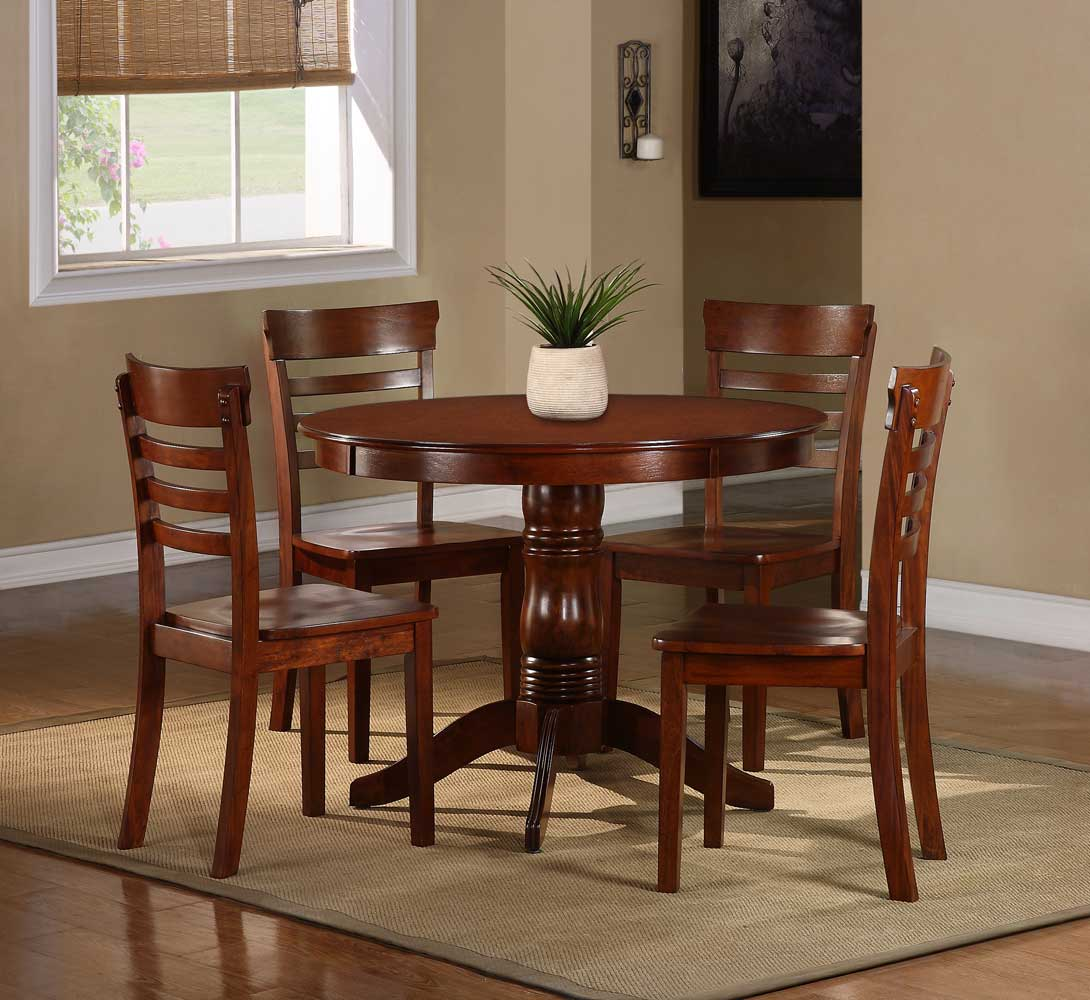 Homelegance Wayland 5-Piece Dining Set - Antique Oak