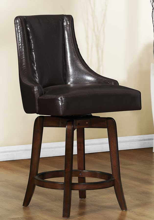 Homelegance Annabelle Swivel Counter Height Chair - Brown