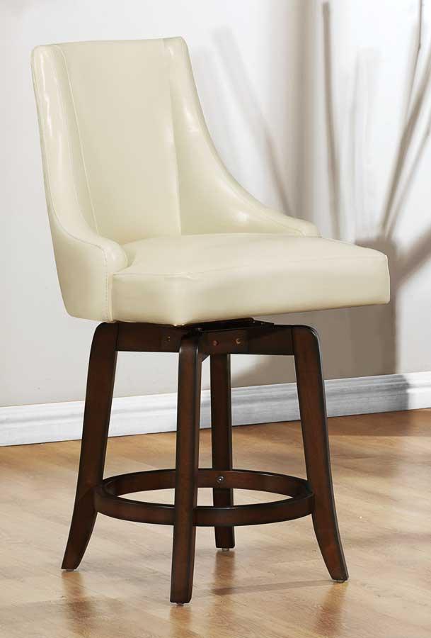 Homelegance Annabelle Swivel Counter Height Chair Cream