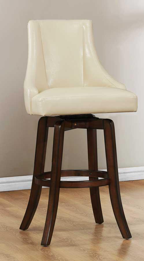 Homelegance Annabelle Swivel Pub Height Chair - Cream