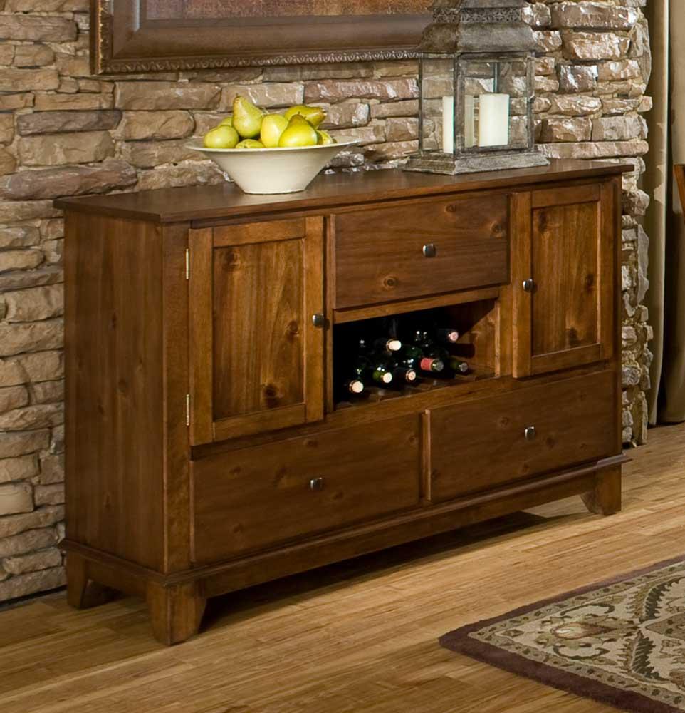 Homelegance Marcel Server - Warm Oak