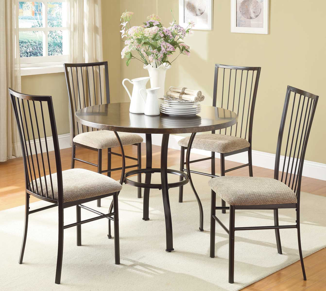 Homelegance Carlson 5-Piece Pack Dinette Set - Coffee