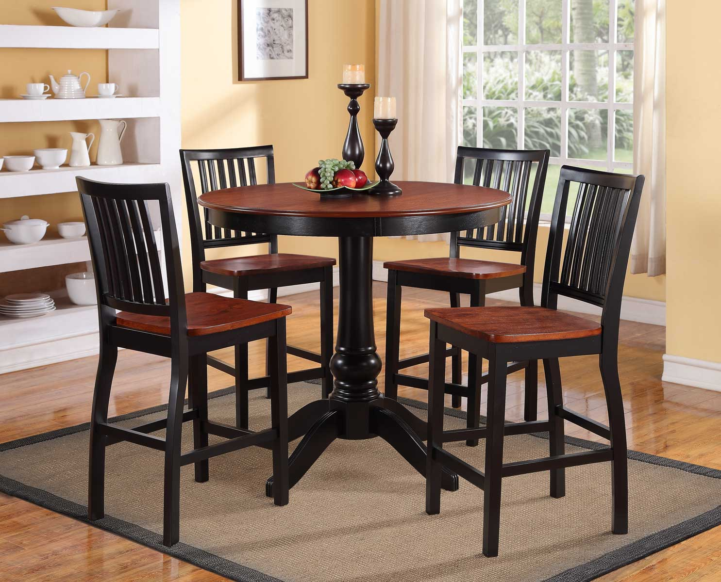 coaster weber rectangular dining set