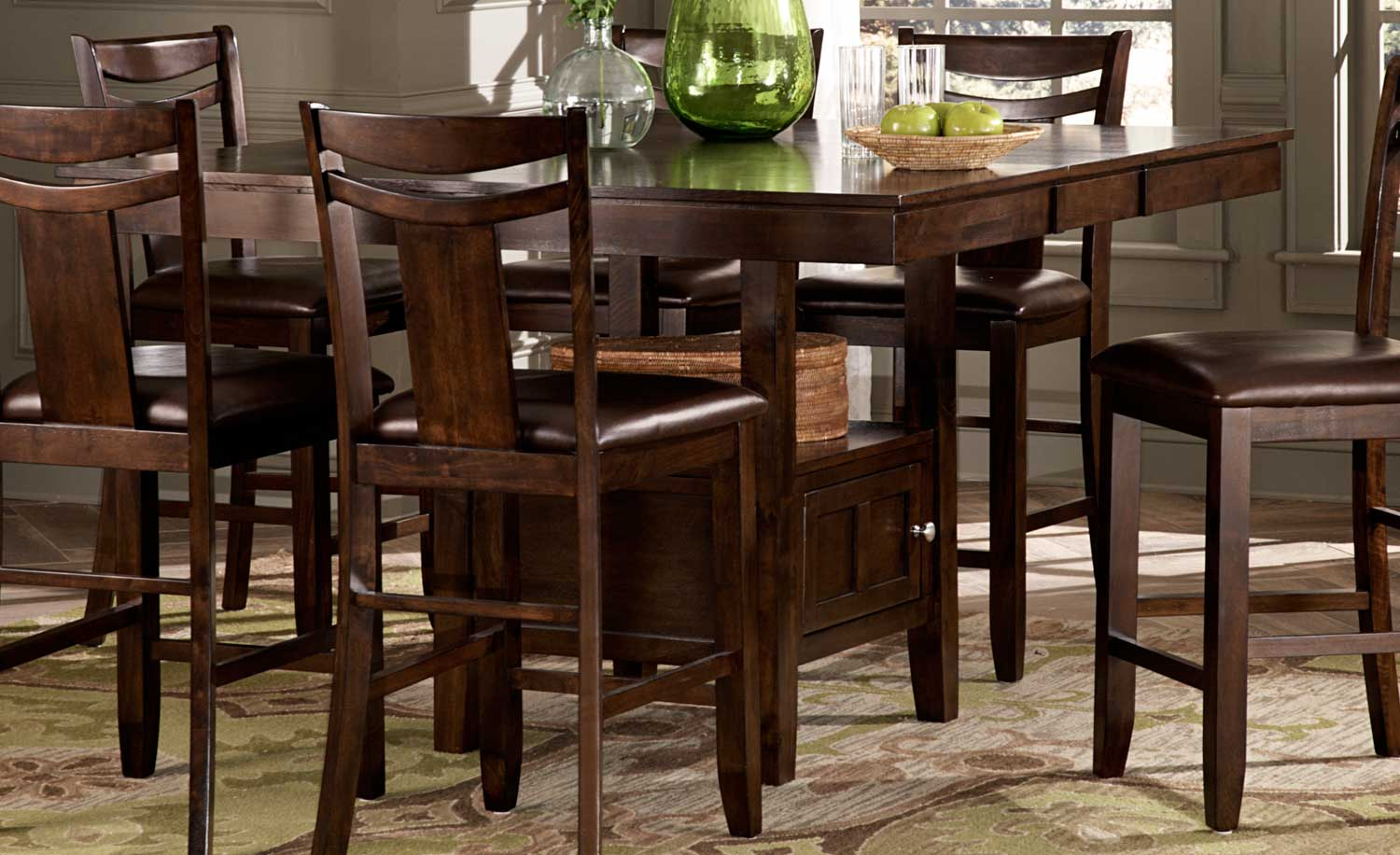 Homelegance Broome Counter Height Table - Dark Brown