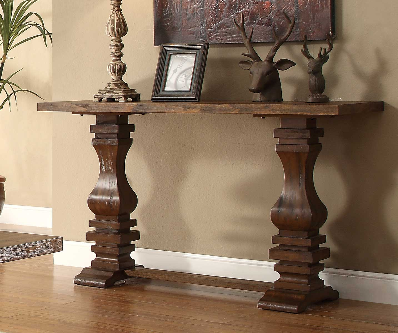 Incredible Homelegance Marie Louise Sofa Table Rustic Oak Brown Ibusinesslaw Wood Chair Design Ideas Ibusinesslaworg