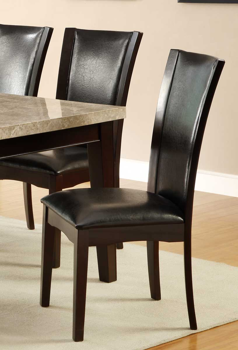 Homelegance Hahn Side Chair - Dark Brown - Dark Brown Bi-Cast Vinyl