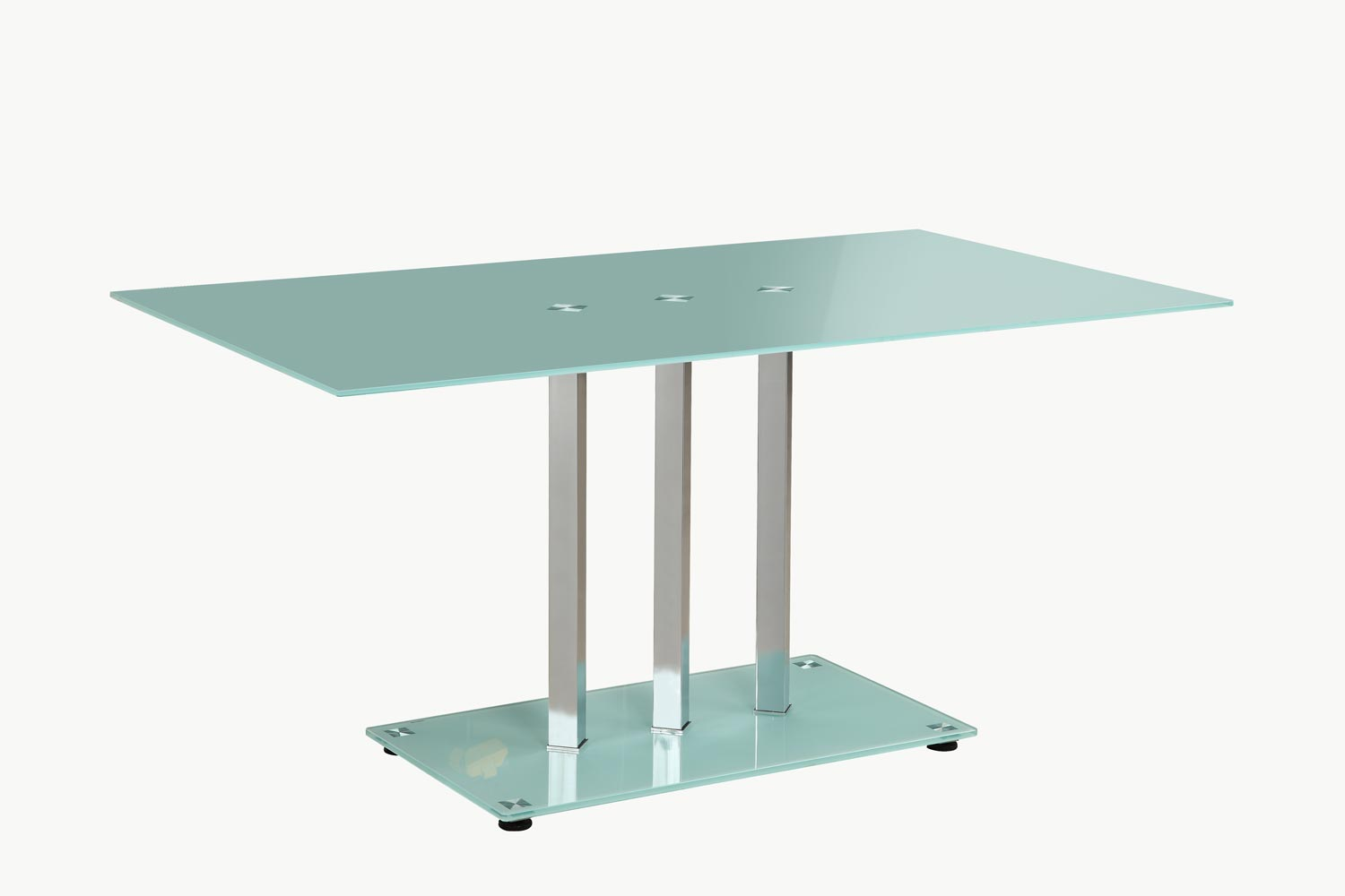 Homelegance Goran Glass Top Dining Table - Glass/Chrome - Frosted Glass Top