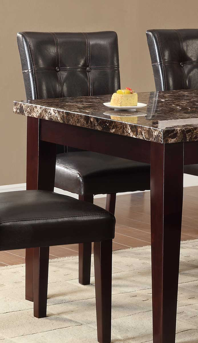 Homelegance Teague Side Chair - Espresso - Tufted Dark Brown Bi-Cast Vinyl