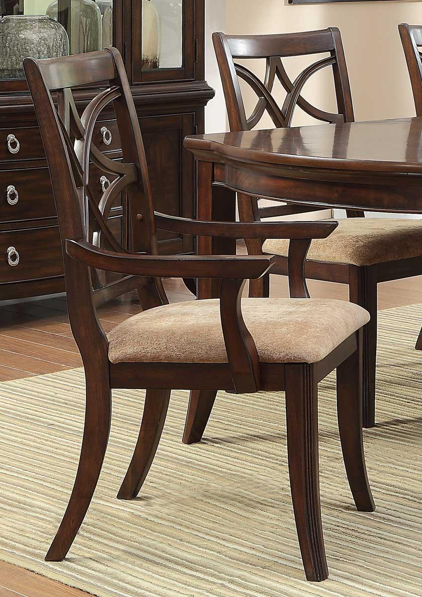 Homelegance Keegan Arm Chair - Cherry