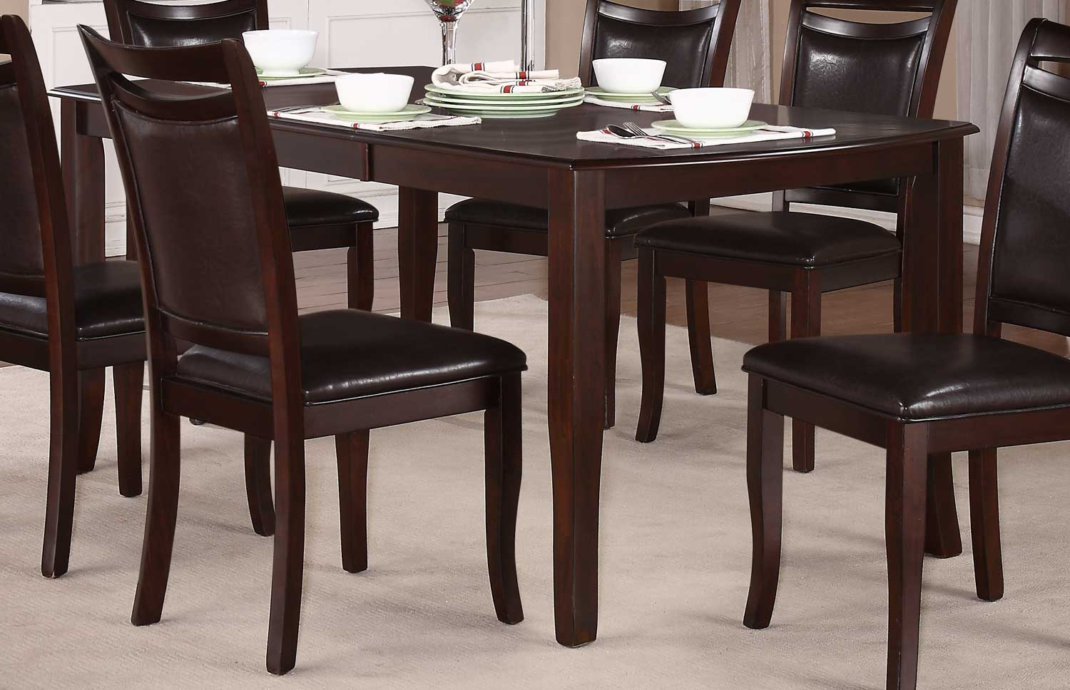 Homelegance Maeve Dining Table - Dark Cherry
