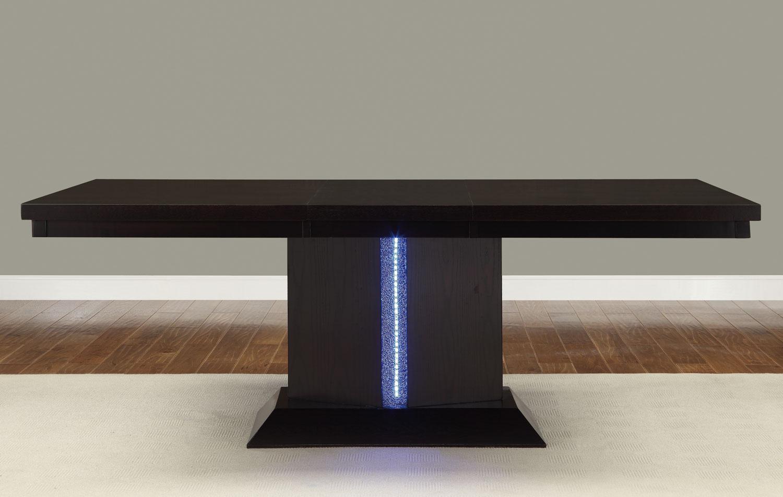 Homelegance Pulse Dining Set with LED Light  Espresso D257978 at Homelement -> Table Galet Led