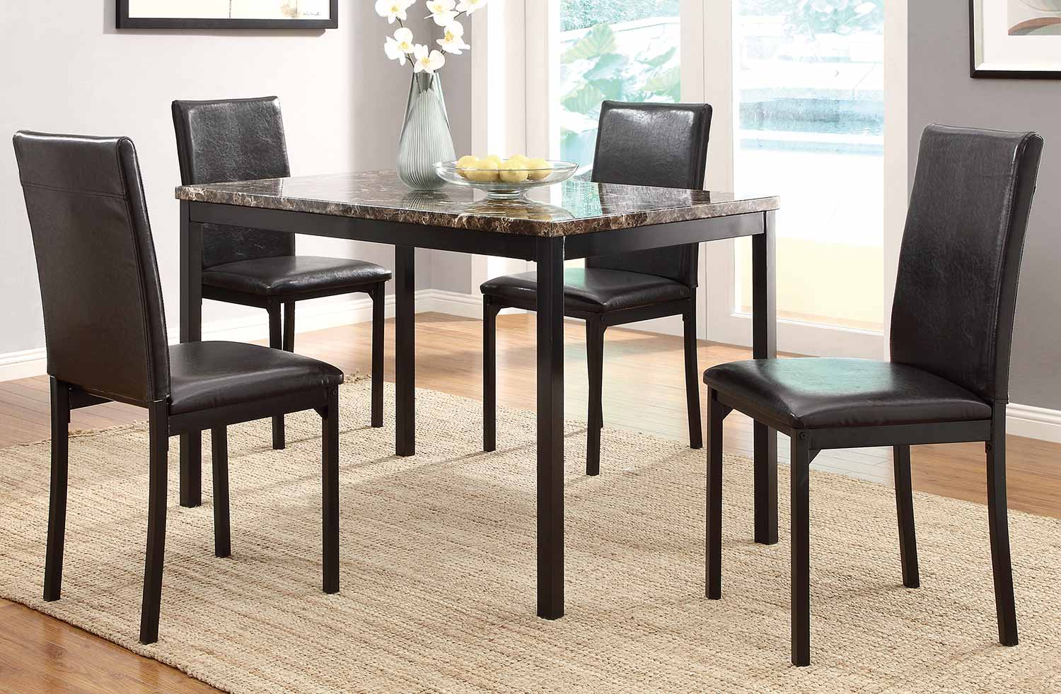 Homelegance Tempe Counter Height Dining Set - Black Metal