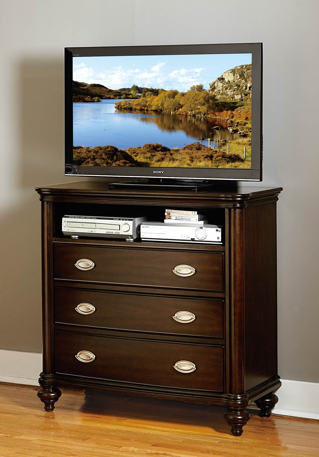 Homelegance Marston TV Chest - Dark Cherry