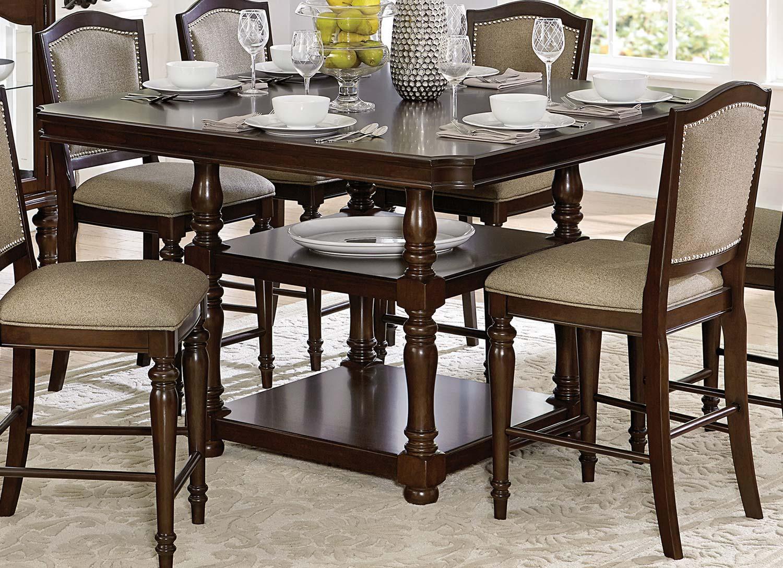 Homelegance Marston Counter Height Dining Table - Dark Cherry