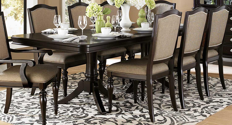 Homelegance Marston Double Pedestal Dining Table Dark