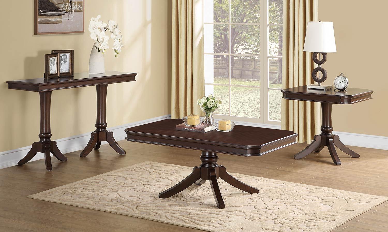 Homelegance Marston Rectangular Coffee Table Set Dark