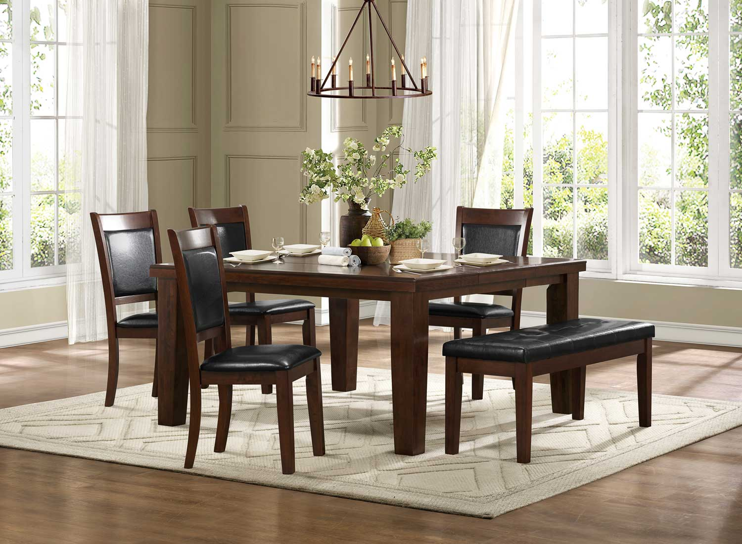Homelegance Avery 9 Piece Pedesatal Dining Room Set In