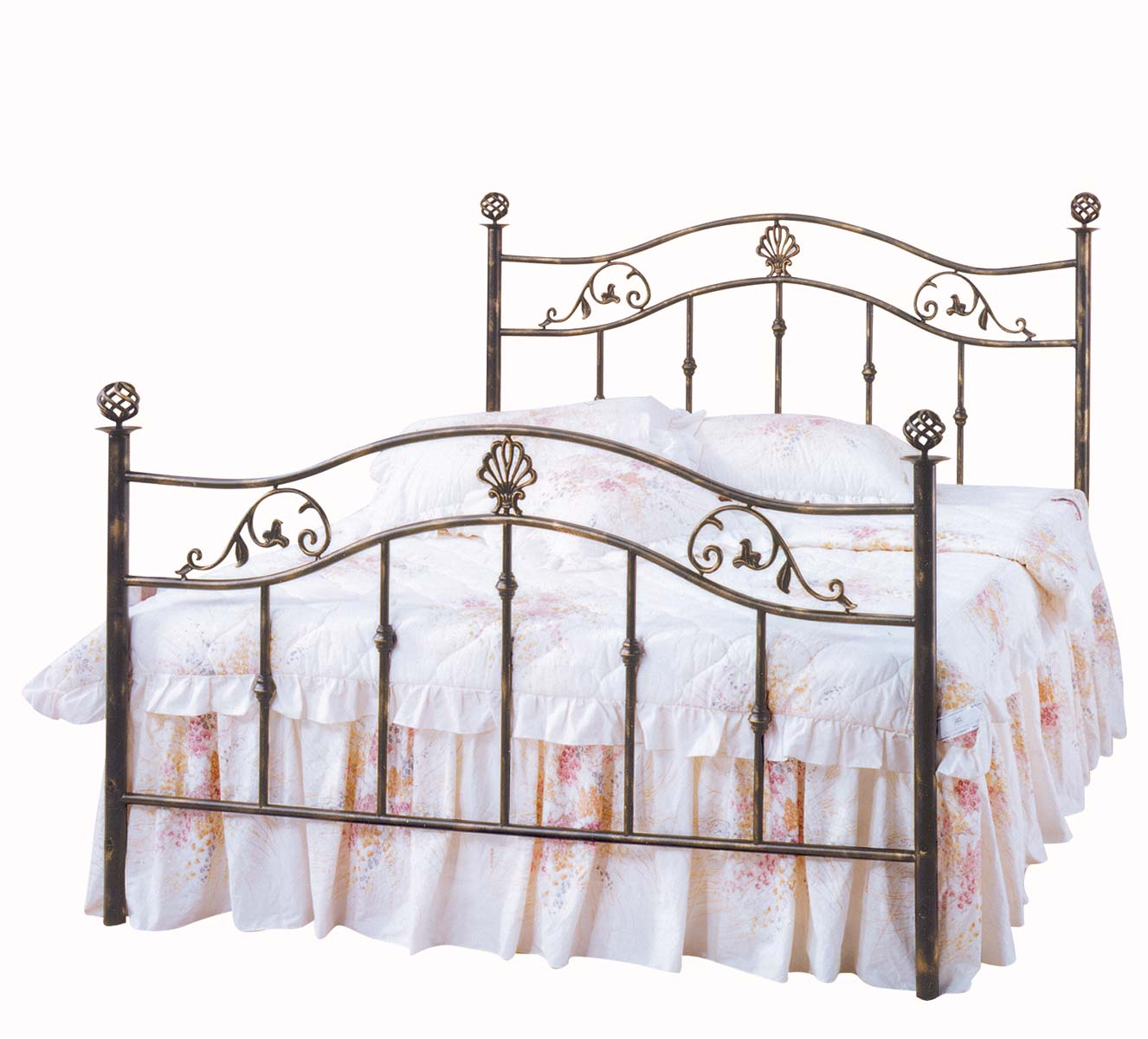 Homelegance Metaline Metal Bed - Distressed Dark Bronze