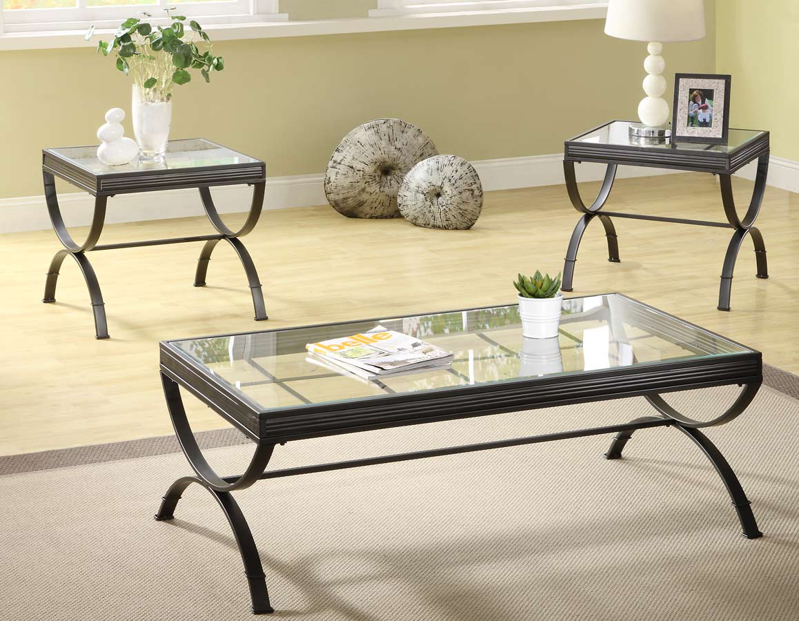 Claro 3-Piece Occassionals Table - Black - Homelegance