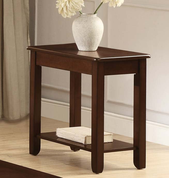 Homelegance Ballwin Chairside Table - Deep Cherry
