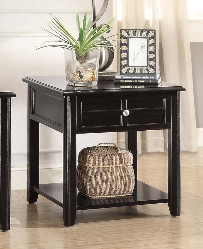 Homelegance Carrier End Table with Functional Drawer - Dark Espresso