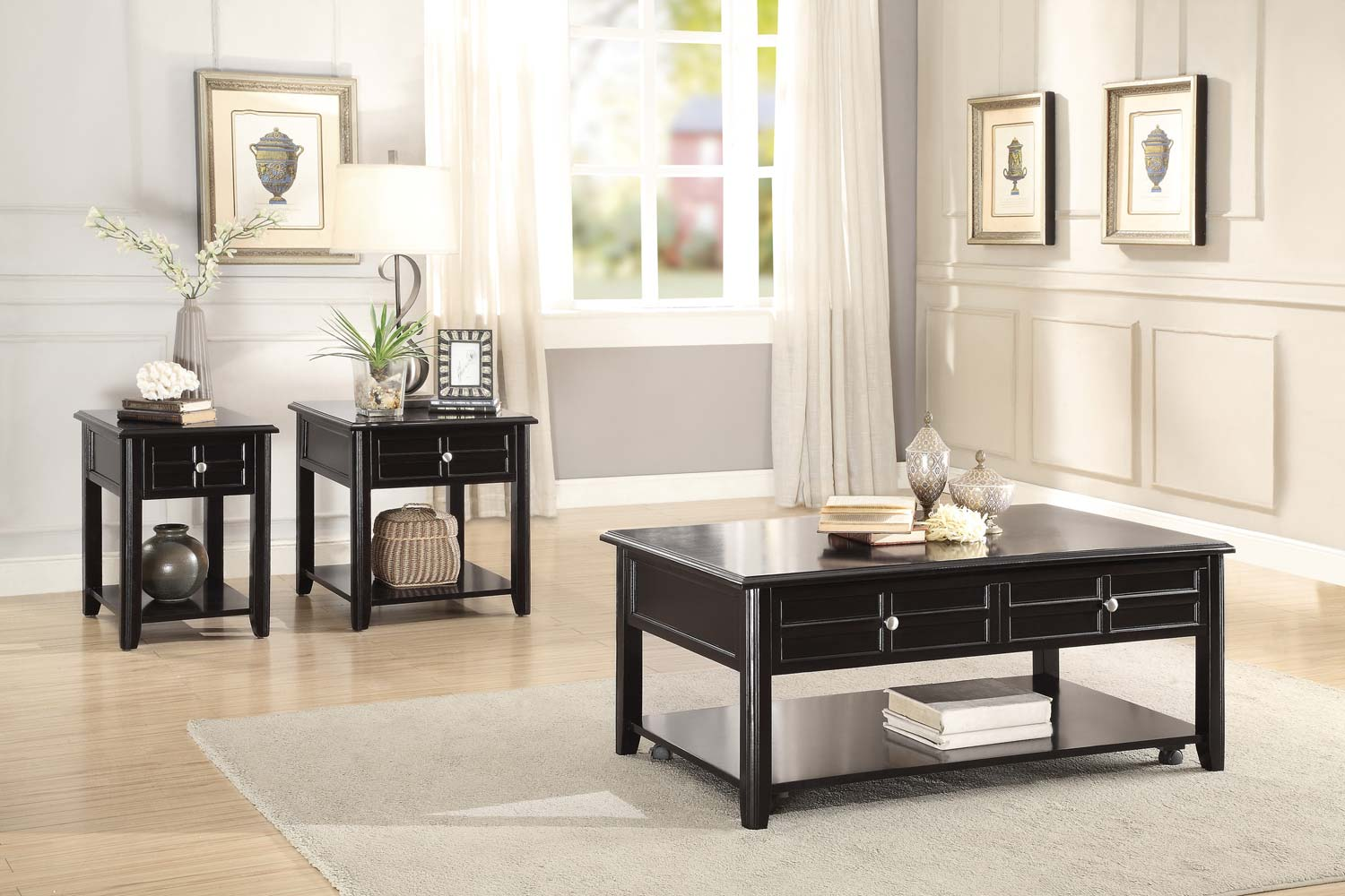 Homelegance Carrier Cocktail/Coffee Table Set - Dark Espresso