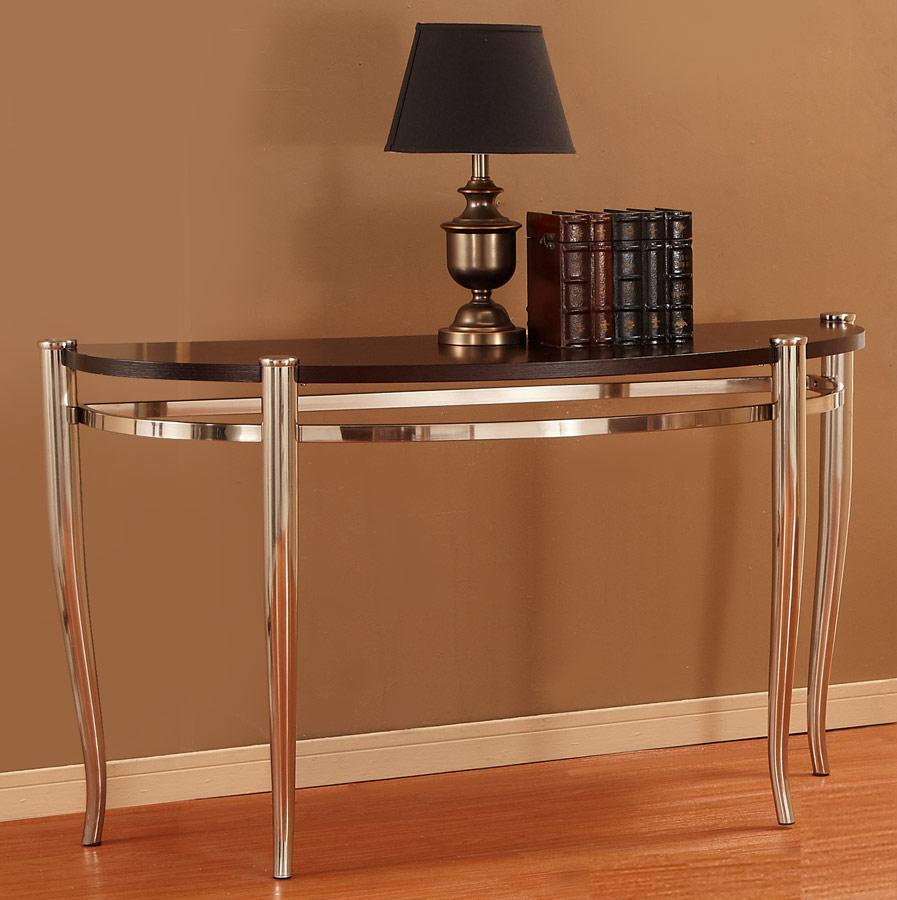Homelegance Coffey Sofa Table - Brushed Nickel 3318-05