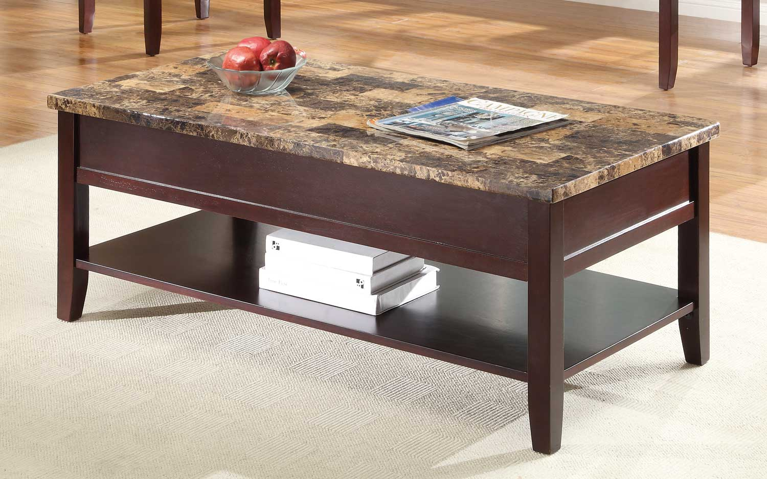 Homelegance Orton Lift Top Cocktail Table - Cherry