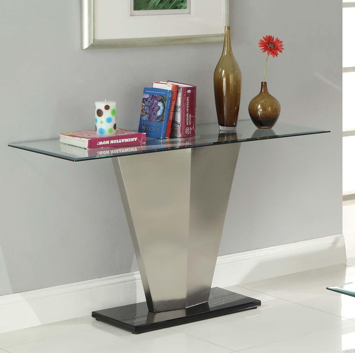 Homelegance Silverstone Sofa Table - Brushed Chrome� 3455-05
