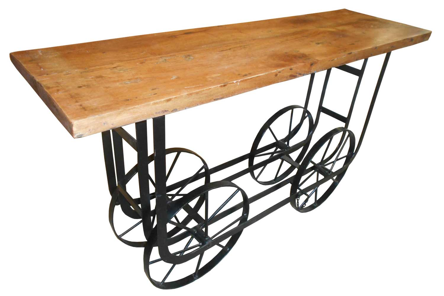 Homelegance bremerton sofa table with functional wheels for Sofa table on wheels