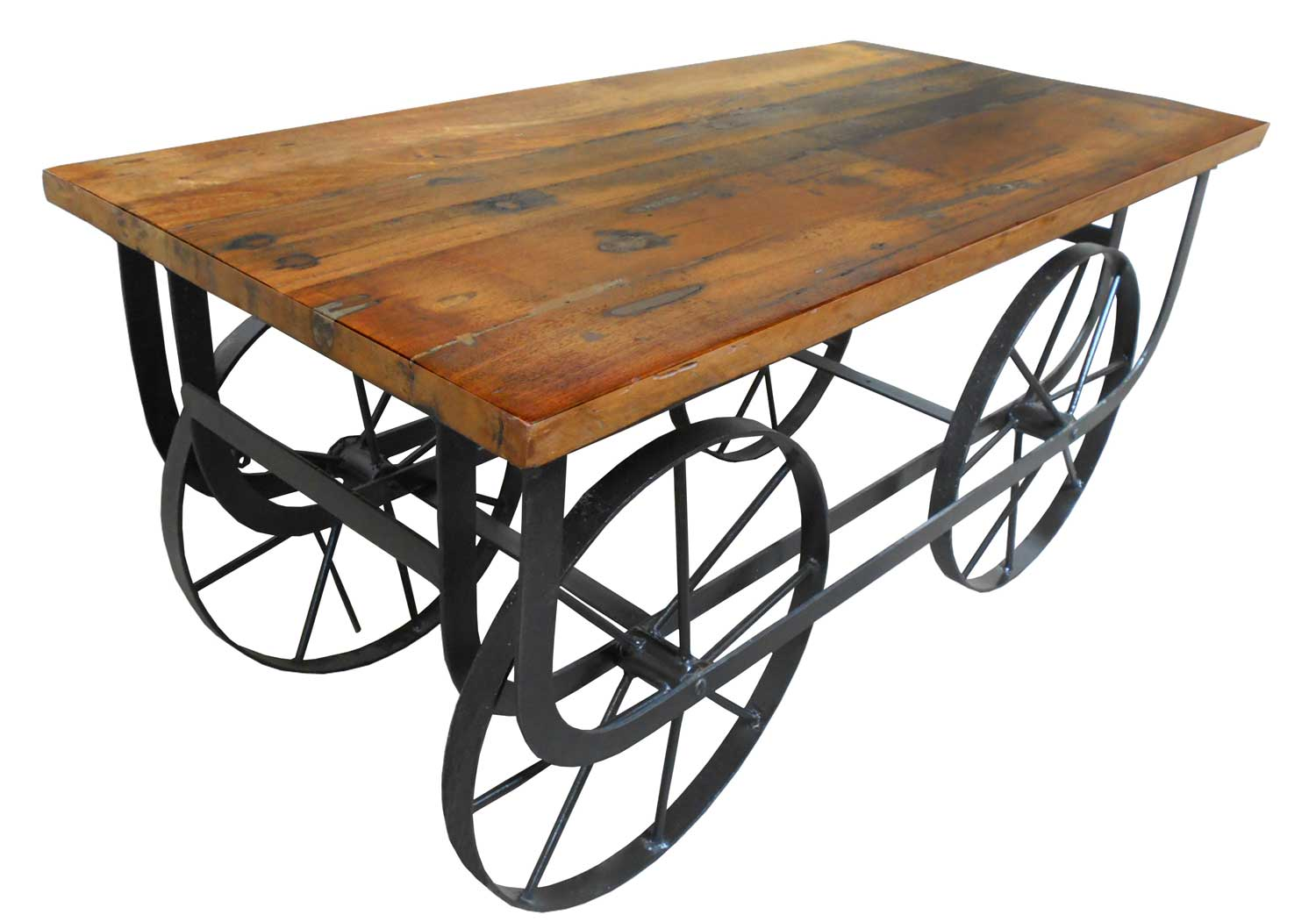 Homelegance Bremerton Cocktail Table with Functional Wheels