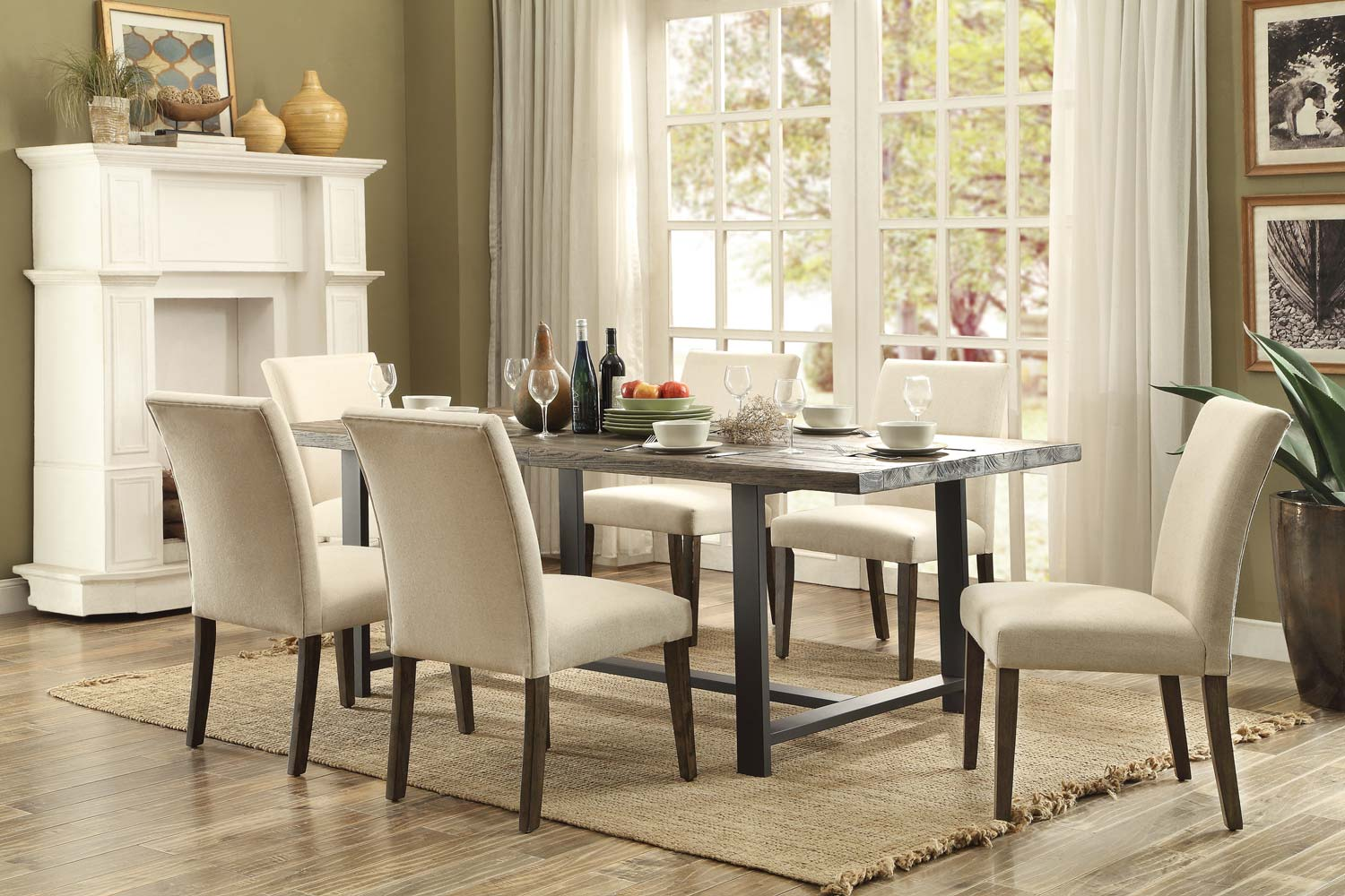 Homelegance Anacortes Dining Set - Burnished Natural