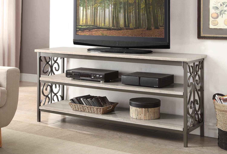Homelegance fairhope 62 inch tv standsofa table with faux marble homelegance fairhope 62 inch tv standsofa table with faux marble top geotapseo Choice Image
